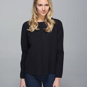 Lululemon Black Solo Blouse Cardigan Shirt Top